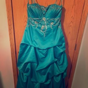 Strapless Prom Dress, Only worn once!
